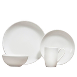 Fortessa Fortaluxe SuperWhite Vitrified China Caldera 16 Piece Place Setting