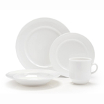 Fortessa Fortaluxe SuperWhite Vitrified China Cassia 16 Piece Place Setting