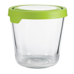 Anchor Hocking 7 Cup Round Kitchen Storage Container with Green TrueSeal Lid