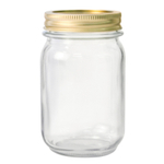 Anchor Hocking Glass 1 Pint Home Canning Jar with Metal Lid, Set of 12