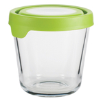 Anchor Hocking 3.5 Cup Round Kitchen Storage Container with Green TrueSeal Lid