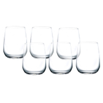 Bormioli Rocco Premium Clear 14 Ounce Sparkling Water Glass, Set of 6