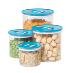 Oggi Stack 'n Store Aqua 4 Piece Round Canister Set