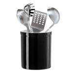 Oggi Black Ceramic 7 Inch Utensil Holder