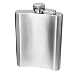 Oggi Stainless Steel 8 Ounce Hip Flask with Funnel