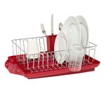 Farberware Professional Red 3 Piece Dish Rack Set