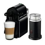 DeLonghi Nespresso Inissia Black Espresso Machine with Aeroccino Milk Frother and Free Set of 6 Espresso Glasses