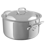 Mauviel M'Cook Stainless Steel 11 Inch Stewpan with Lid