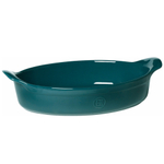 Emile Henry Blue Flame Ceramic 3.5 Quart Oval Gratin Dish