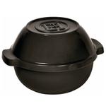 Emile Henry Flame Charcoal Ceramic 2.1 Quart Potato Pot