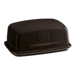 Emile Henry Charcoal Ceramic 16 Ounce Butter Dish