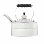 Simplex Kettles Kensington Solid Copper No. 2 Silver Plated Finish 1.9 Quart Teakettle