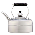Simplex Kettles Kensington Solid Copper No. 3 Chrome Plated Finish 1.9 Quart Teakettle