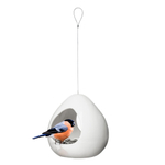 Sagaform White Stoneware Outdoor Hanging Bird Feeder