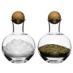 Sagaform Spice Serving Glass Jar with Oak Stopper, Set of 2