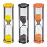 Kuchenprofi Black, Orange, and Yellow 3 Piece Egg Timer Set