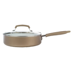 WearEver Pure Living Champagne 3.5 Quart Covered Skillet