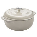 Lodge Oyster White Enameled Cast Iron 6 Quart Dutch Oven