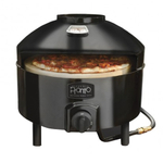 Pizzeria Pronto Outdoor Pizza Oven with Wood Handled Rocking Pizza Cutter and Brush & Peel