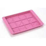 Sweet Creations by Good Cook Spring Themed Pink Silicone Chocolate Mold