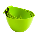 Linden Sweden Daloplast Apple Green Plastic 3 Piece Mixing Bowl Set