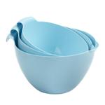 Linden Sweden Daloplast Light Blue Plastic 3 Piece Mixing Bowl Set