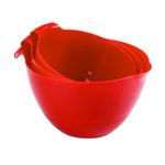 Linden Sweden Daloplast Red Plastic 3 Piece Mixing Bowl Set