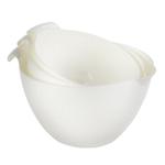 Linden Sweden Daloplast White Plastic 3 Piece Mixing Bowl Set