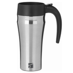 Trudeau Journey Silver Stainless Steel 16 Ounce Travel Mug