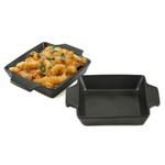 Charcoal Companion Flame Friendly Black Ceramic Baker, Set of 2