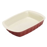 Good Cook Oven Fresh Red Stoneware 14 x 9 Inch Oblong Baking Dish