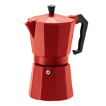 Oggi Red Cast Aluminum 12 Ounce Stovetop Espresso Maker