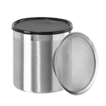 Oggi Stainless Steel 4 Quart Grease Can with Strainer