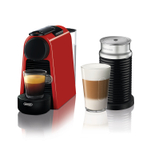De'Longhi Nespresso Essenza Red Mini Espresso Machine with Aeroccino Milk Frother