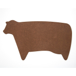 Epicurean Nutmeg and Natural Novelty Cow 20 x 11.75 Inch Cutting Board