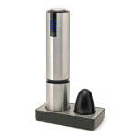Peugeot Elis Touch Stainless Steel Electric Corkscrew and Foil Cutter