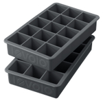 Tovolo Perfect Cube Charcoal Silicone Ice Tray, Set of 2
