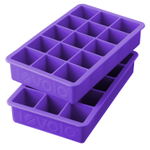 Tovolo Perfect Cube Vivid Violet Silicone Ice Tray, Set of 2