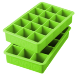 Tovolo Perfect Cube Spring Green Silicone Ice Tray, Set of 2