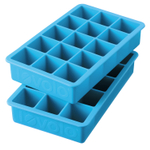 Tovolo Perfect Cube Ice Blue Silicone Ice Tray, Set of 2