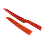 Kuhn Rikon Colori+ Red 8 Inch Bread Knife