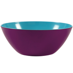 French Bull Grape and Turquoise Two Tone Large Salad Bowl