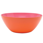 French Bull Orange and Pink Large Salad Bowl