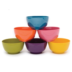 French Bull Assorted Color Melamine Bowl, Set of 6