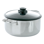 Frieling Black Cube Hybrid Stainless Steel/Nonstick 7.5 Quart Covered Stockpot