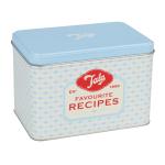 Tala Originals Bright Blue Recipe Card Tin