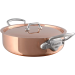 Mauviel M'Heritage 11 Inch Rondeau with Copper Lid