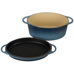 Le Creuset Marine 7.25 Quart Oval Dutch Oven with Reversible Grill Pan Lid