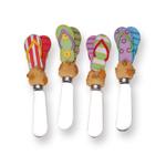 Supreme Housewares Beach Sandals Stainless Steel 5 Inch Spreader, Set of 4