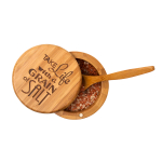 Totally Bamboo Bamboo 6 Ounce Grain of Salt Round Salt Box